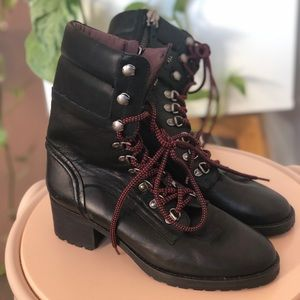 Military inspired lace-up boots